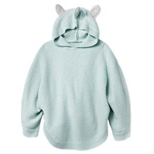 Girl's Unicorn Poncho Pullover Long Sleeve Sweater